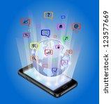 communication technology | Shutterstock . vector #123577669
