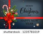 dark holiday decor   Shutterstock .eps vector #1235781019