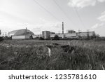 reactor 4 at the chernobyl... | Shutterstock . vector #1235781610