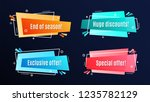 flat linear promotion ribbon... | Shutterstock .eps vector #1235782129