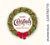 vector greeting card with... | Shutterstock .eps vector #1235783770