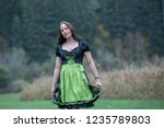 brunette in german national... | Shutterstock . vector #1235789803