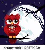 cute cartoon owl coquettish red ...   Shutterstock . vector #1235792206