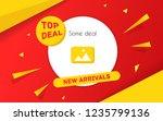 big sale for web app banner.... | Shutterstock .eps vector #1235799136