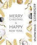 christmas bright background... | Shutterstock .eps vector #1235805259