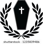 coffin logo simple | Shutterstock .eps vector #1235839486