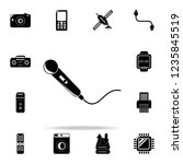 microphone icon. technology...