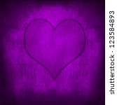 Purple Valentine's Heart Retro...