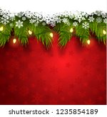 2019 new year christmas... | Shutterstock .eps vector #1235854189