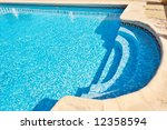 Swimming Pool With Bright Blue...