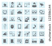 communication and network icon... | Shutterstock .eps vector #123586144