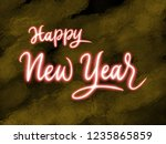 happy new year 2019 handwriting ... | Shutterstock . vector #1235865859