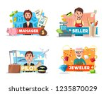 professions of seller and... | Shutterstock .eps vector #1235870029