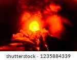 fuego volcano erupts in the... | Shutterstock . vector #1235884339