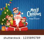 party christmas card invite all ... | Shutterstock .eps vector #1235890789