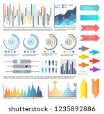 infographics with arrowheads... | Shutterstock .eps vector #1235892886