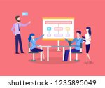 business meeting  presentation... | Shutterstock .eps vector #1235895049