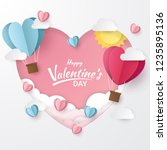 happy valentine's day with... | Shutterstock .eps vector #1235895136