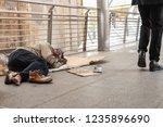 despair homeless sleeping on...   Shutterstock . vector #1235896690
