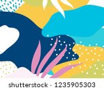 colorful memphis design... | Shutterstock .eps vector #1235905303