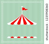 circus tent sign with copy...   Shutterstock .eps vector #1235908360