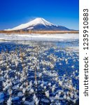 mt fuji  in the early morning....   Shutterstock . vector #1235910883
