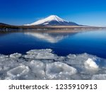 mt fuji  in the early morning.... | Shutterstock . vector #1235910913