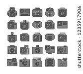 camera and action camera icons  ... | Shutterstock .eps vector #1235917906