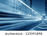 the light trails on the modern... | Shutterstock . vector #123591898