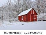 beautiful wisconsin winter... | Shutterstock . vector #1235925043