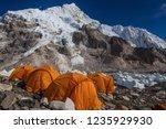 everest base camp  nepal  20... | Shutterstock . vector #1235929930
