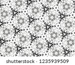 ornament with elements of black ... | Shutterstock . vector #1235939509