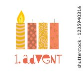 first sunday in advent vector... | Shutterstock .eps vector #1235940316