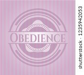 obedience retro pink emblem | Shutterstock .eps vector #1235942053