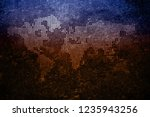 world map vintage grunge... | Shutterstock . vector #1235943256