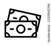 outline banknotes icon on white ... | Shutterstock .eps vector #1235943706