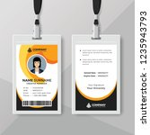 abstract id card template with... | Shutterstock .eps vector #1235943793