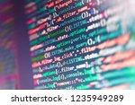 programming code typing.... | Shutterstock . vector #1235949289