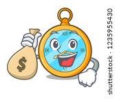 with money bag pocket vintage... | Shutterstock .eps vector #1235955430
