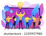 company enployees and leader...   Shutterstock .eps vector #1235957980