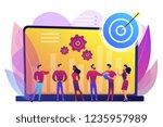 employees get organizational...   Shutterstock .eps vector #1235957989