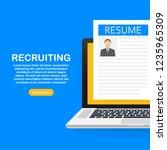 recruitment concept. hire... | Shutterstock .eps vector #1235965309