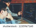 developing programmer team...   Shutterstock . vector #1235967160