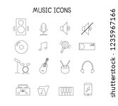 flat music and instrument icon... | Shutterstock .eps vector #1235967166