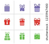 gift box icons on white...