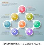 vector abstract 3d paper... | Shutterstock .eps vector #1235967676