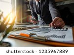businessman or designer using...   Shutterstock . vector #1235967889