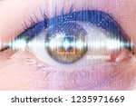 concept of sensor implanted... | Shutterstock . vector #1235971669