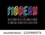 modern font design  alphabet... | Shutterstock .eps vector #1235980576