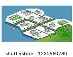 isometric industrial factory...   Shutterstock .eps vector #1235980780
